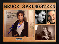 Bruce Springsteen Autographed Album Cover Display AFTAL UACC RD COA PSA