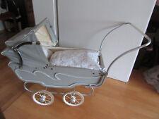 Puppenwagen, Speichenräder, Faltverdeck Dekorativ -f.Reborn Baby  ca.40er Jahre