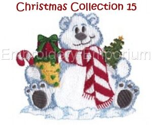 CHRISTMAS COLLECTION 15 - MACHINE EMBROIDERY DESIGNS ON CD OR USB
