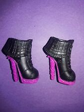 Monster High Doll Clothes Music Festival Venus Black & Pink Shoes Boots