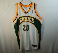 Gary Payton Seattle Sonics NBA Basketball Jersey Reebok Sewn Size 52