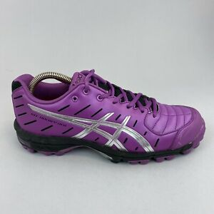 Asics Womens Gel-Hockey Neo Purple Trainers Hockey Shoes Pitch Field US8.5 UK6.5
