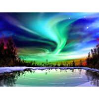5D DIY Full Drill Diamond Aurora Painting Cross Stitch Kits Art Wall Decors