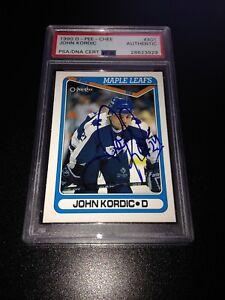 John Kordic Signed 1990-91 O-Pee-Chee OPC Rookie Card PSA Slabbed #28623929