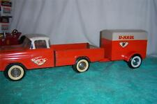 "Nylint U-Haul Ford Pickup Truck with Trailer 1960's Rare Pressed Steel 22 "" Long"