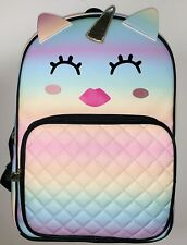 """BETSEY JOHNSON """"LBADLEY"""" Unicorn YEL/MULTI Quilted Faux Leather Large Backpack"""