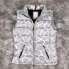 BOGNER Fire + Ice Feather Down Fill Glacier Patterned Puffer Vest Jacket XS