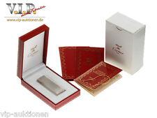 Cartier ACCENDINO SILVER-FINISH ACCENDINO BRIQUET ENCENDEDOR GAS LIGHTER + BOX 打火機