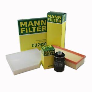 MANN-FILTER Air Oil Cabin FiltersRAPKIT071 fits Audi A5 8T3 1.8 TFSI 2.0 TFSI