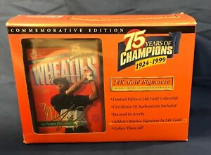 Wheaties Tiger Woods 75th Collectibles 24K Gold Signature Mini Box 1999