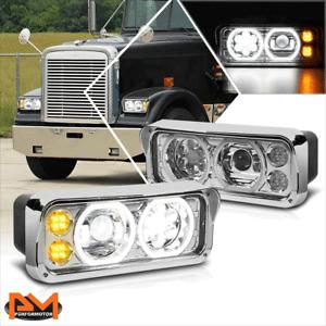 For 81-19 Kenworth W900/Western Star 4800 LED Turn Signal Projector Headlights