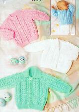 baby girls boys cardigans dk knitting pattern 168