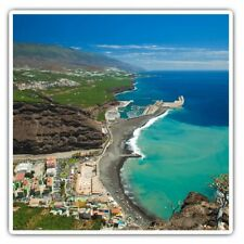 2 x Square Stickers 7.5 cm - La Palma Canary Islands Beach Cool Gift #16548