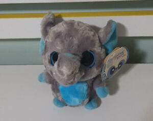 AURORA YOO HOO AND FRIENDS TINEE ELEPHANT TOY SOFT TOY!15CM! GREY AND BLUE!