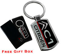 CITROEN C1 CAR LOGO  KEYRING KEY RING FOB