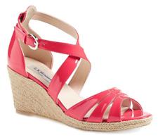 465c151ca L.K. Bennett Priya Women's Pink Wedge Sandal Size EU 40 1082