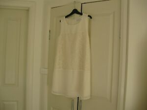 Ladies Dress Design Cupcakes & Cashmere Fashion  Size L  No Sleeves Cream Lined