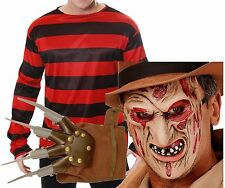 Freddy Freddie Krueger Elm St Halloween Fancy Dress Costume Jumper Mask Glove
