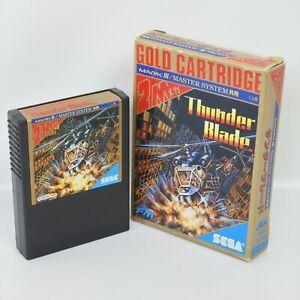Sega Mark III Gold THUNDER BLADE No Instruction 25157 m3
