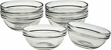 Mini Bowls Made In USA Lys Stackable Clear Bowl, 3.5-Inch, Set of 4 Kitchen