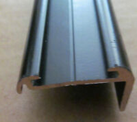 "106"" BLACK  Aluminum Insert Type Roof Edge Molding RV Trailer 5/8"" x 1 3/16"""