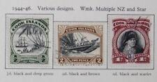 Cook Islands 1944 complete set (9) SG137-145 Fine Used