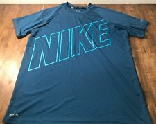 Nike Swim Dri-Fit Mens Shirt Large Black Xl athletic sport tee active wear Euc!