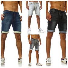 Sublevel Herren Jeans-Shorts Vintage Sweat-shorts Caprijeans destroyed Bermuda