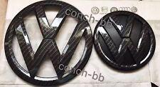 VW Transporter T6 CARBONE EFFET Calandre Avant & Arrière Badge Coffre emblèmes OEM-fit