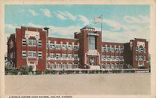 Lincoln Junior High School in Salina KS Postcard