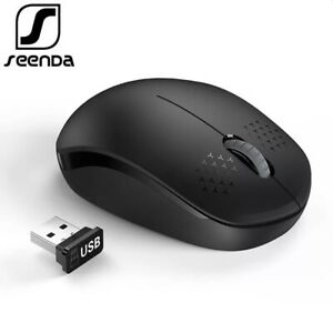 2.4GHz SeenDa Noiseless USB Wireless Mouse Laptop Portable Mini Mute Silent