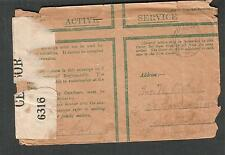Jan 1918 WWI UK Active Serv Field Post cover censor 6316 F Gale to Amsterdam NY