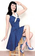 Cotton Blend Polka Dot Formal Regular Size Dresses for Women