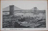 1905 Postcard - ''Brooklyn Bridge View - New York, NY''