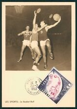 MONACO MK 1953 BASKETBALL BASKET-BALL MAXIMUMKARTE CARTE MAXIMUM CARD MC CM ci22
