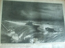 ANTIQUE PRINT 1917 THE WAR ILLUSTRATED SEA HUNS ORGY OF HATE VINTAGE MILITARY