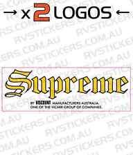 2 x SUPREME (viscount group) Caravan decal, sticker, vintage, retro, graphics