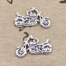6pcs Charm Silver Motorcycle Pendant Craft Connector Finding Jewelry Making DIY