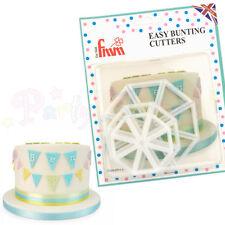 FMM Sugarcraft - GENUINE Easy Bunting Cutters 3 set - Cake decoration cutter set
