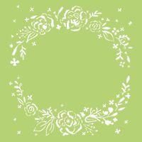 Kaisercraft TEMPLATE / STENCIL 6x6 Designer Template - Floral Wreath