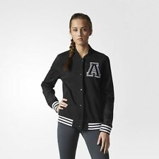 NEW Women's Adidas Varsity Jacket Size: Small Color: Black