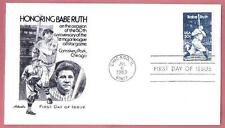 2046 Babe Ruth NY Yankee Sultan of Swat Cacheted 1983 First Day Cover UA  A109
