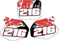 CR125 CR250 Number Plate Decals Graphics Cr 125 250 95-97 Stickers Graphic kit