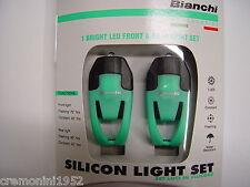 BIANCHI coppia Fanali anteriore posteriore LED fanale bici set luci lights bike