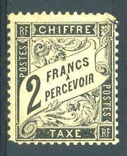 """FRANCE TAXE N° 23  """" TYPE DUVAL 2F NOIR """" NEUF X A VOIR"""