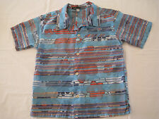 Boys Collared Shirt Short Sleeve Size 4 K Kaufman Multi Colored