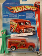 2010 i Hot Wheels Paramedic ARMORED TRUCK #182 ☆RED☆ Race World