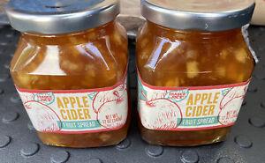 Trader Joe's APPLE CIDER Fruit Spread 12 Ounce Each Jar *2 PACK* NEW BATCH
