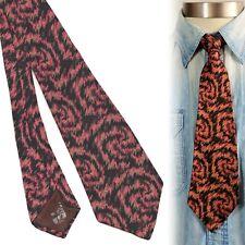 1920s 1930s Electric Swirls Vintage Necktie Art Deco Swing Tie