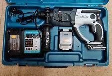 Makita DHR202 (white) 18v SDS drill, 6Ah battery, charger
